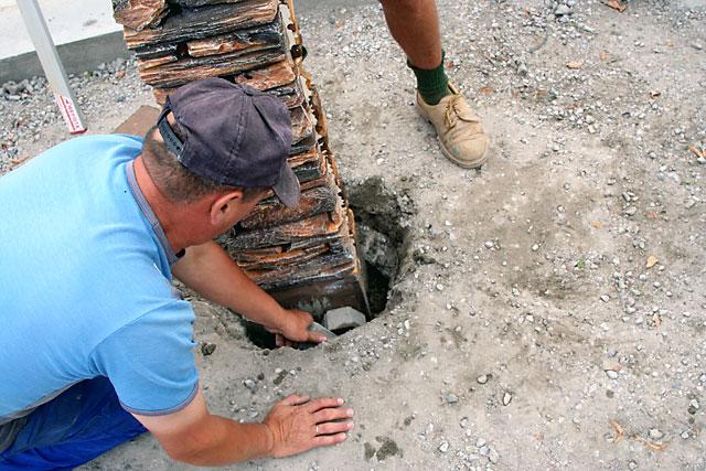 бетонирование столбов